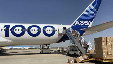 "Photo of ""إيرباص"" تنفذ مهام جوية بطائرة ""A350"" لمواجهة ""كورونا"""